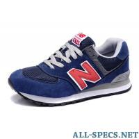 New Balance 574 (Blue / Grey / Red) 977924