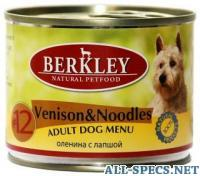 Berkley #12 venison & noodles adult dog menu 9202111