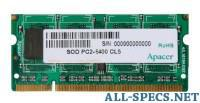 Apacer DDR2 800 ECC SO-DIMM 512Mb 1